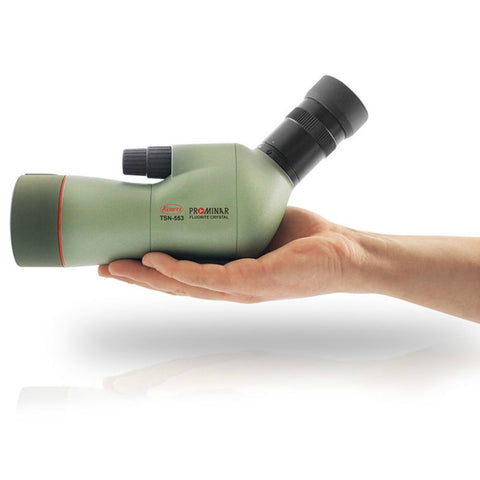 Kowa_TSN-553_55mm_Prominar_Pure_Fluorite_Angled_Spotting_Scope_On_Hands