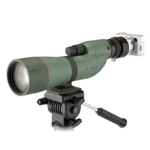 Kowa_TSN-774_77mm_Prominar_XD_Straight_Spotting_Scope_Side_Left_View_with_Camera