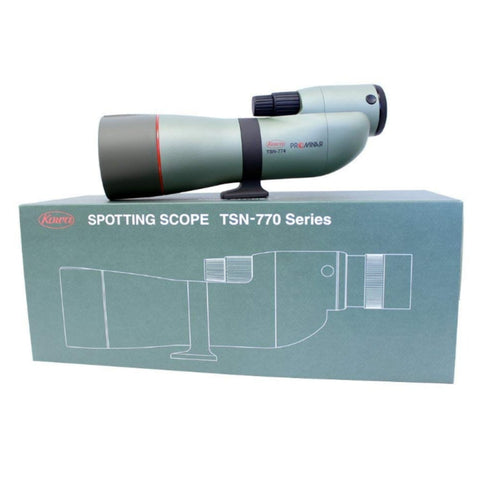 Kowa_TSN-774_77mm_Prominar_XD_Straight_Spotting_Scope_on_Top_of_Box