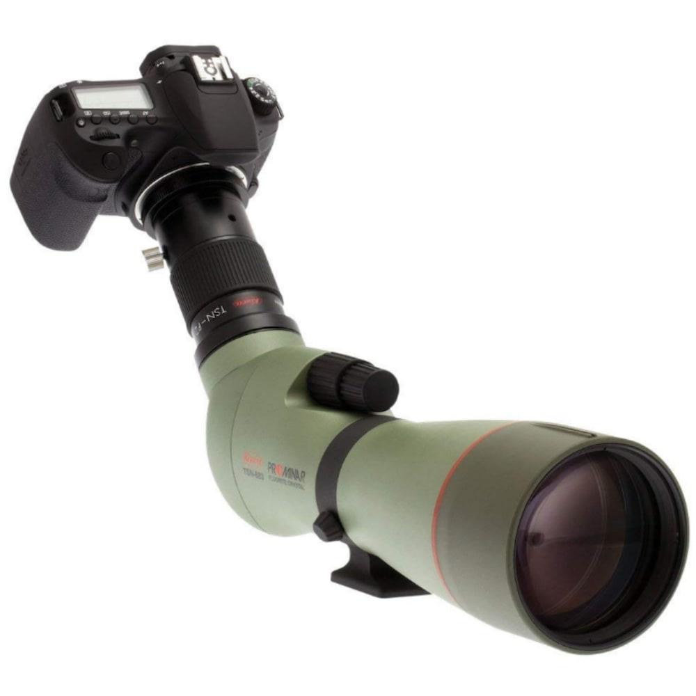 Kowa_TSN-883_88mm_Prominar_Pure_Fluorite_Angled_Spotting_Scope_Front_Right_View_with_Camera
