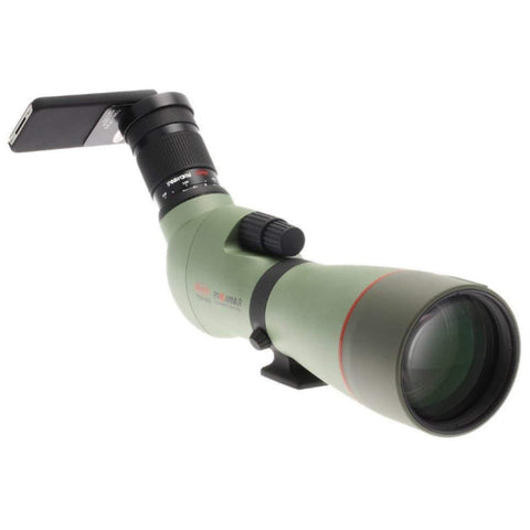 Kowa_TSN-883_88mm_Prominar_Pure_Fluorite_Angled_Spotting_Scope_Front_Right_View_with_Iphone