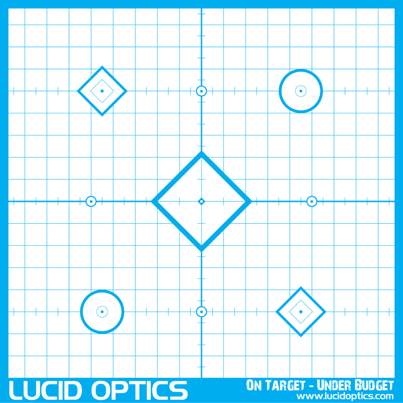 "LUCID OPTICS Precision ""Sight In"" Target"
