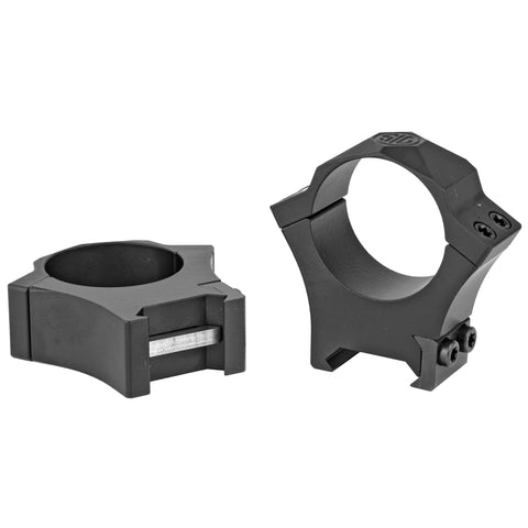 Sig Sauer Alpha Hunting Ring 30mm High Black Steel Picatinny