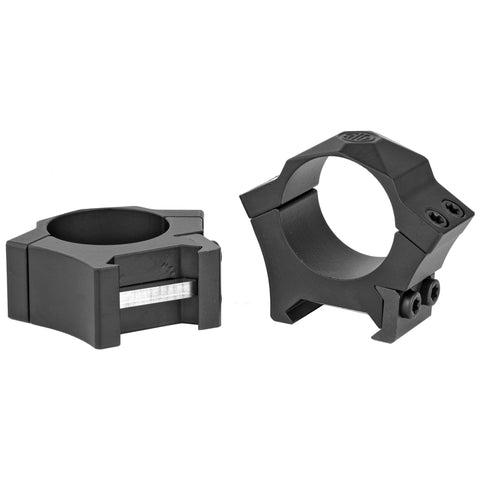 "Sig Sauer Alpha Hunting Ring 1"" Low Black Steel Picatinny"