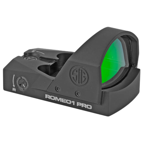 Sig Sauer Romeo1 Pro Reflex Sight 6 MOA Dot Black Finish 1 MOA Adjustments