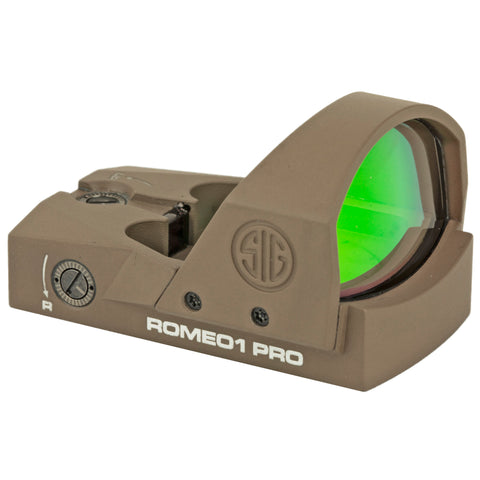 Sig Sauer Romeo1 Pro Reflex Sight 6 MOA Dot FDE Finish 1 MOA Adjustments