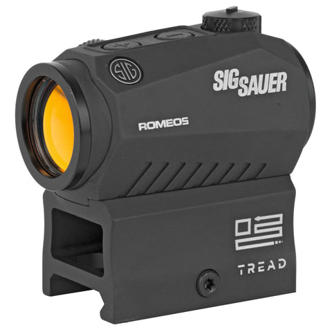 Sig Sauer Romeo5 Tread Red Dot 1X20mm 2 MOA Dot .05 MOA Adjustments Fits M1913 Rail Black Finish