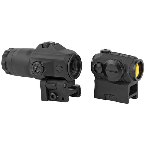 Sig Sauer ROMEO5 and JULIET3 Combo 2 MOA Red Dot 3 Power Magnifier Matte Black Finish