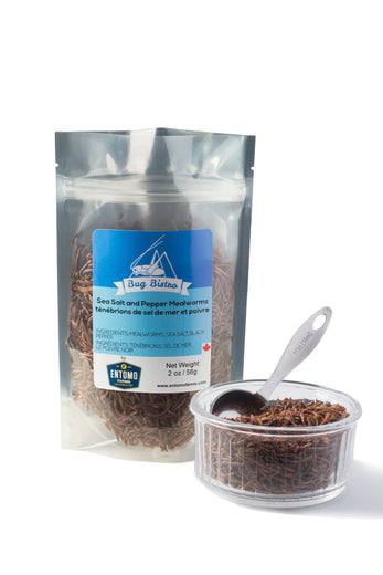 Sea Salt & Pepper Mealworms - Large Bag