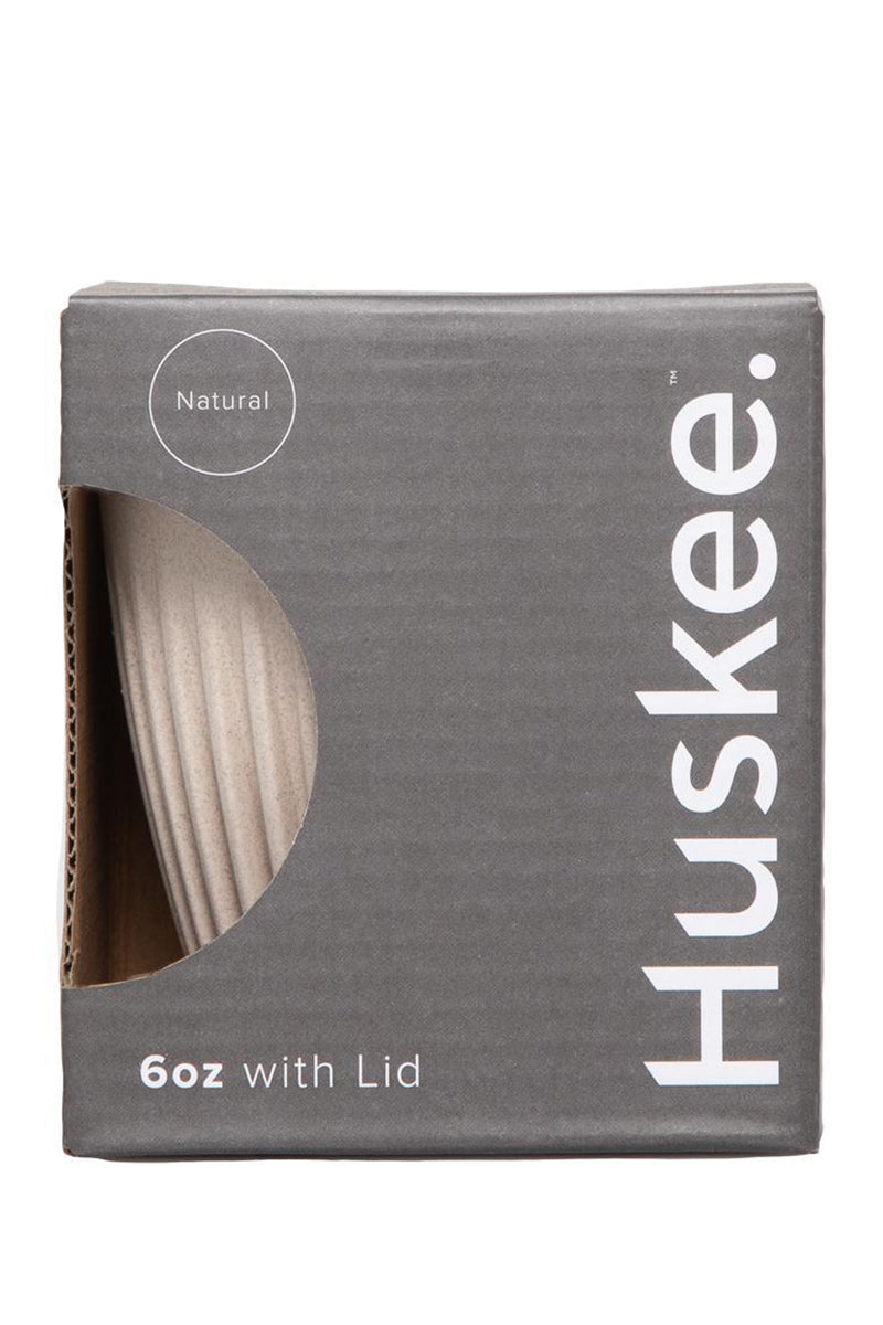 Huskee Reusable Coffee Cup with Lid Natural 6oz 177ml