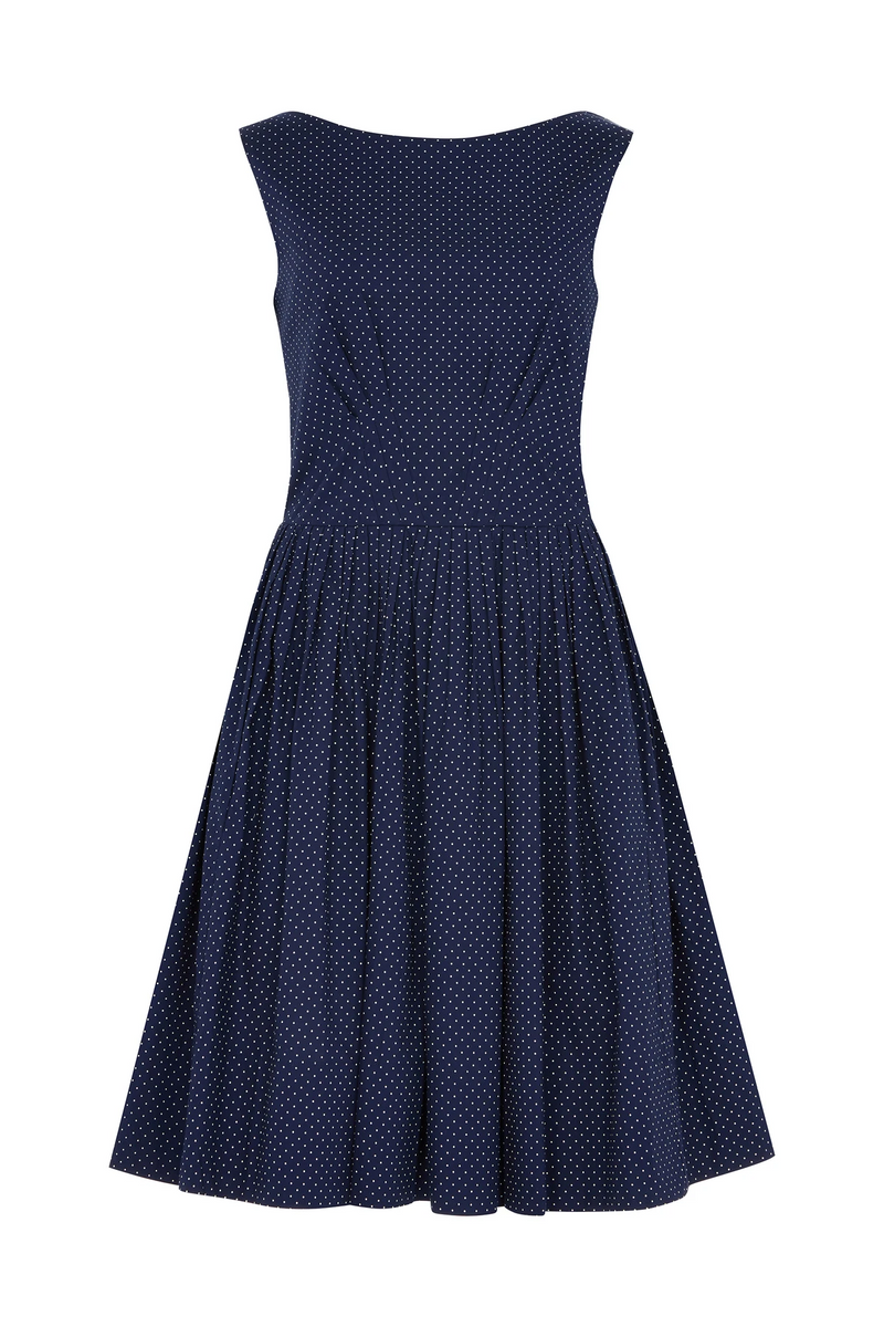 Emily and Fin Abigail Dress Navy Pin Dot PRE-ORDER