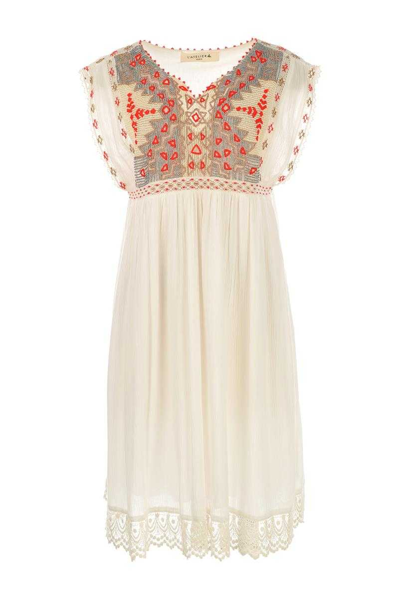 L'atelier D Teenager Embroidery Lace Dress