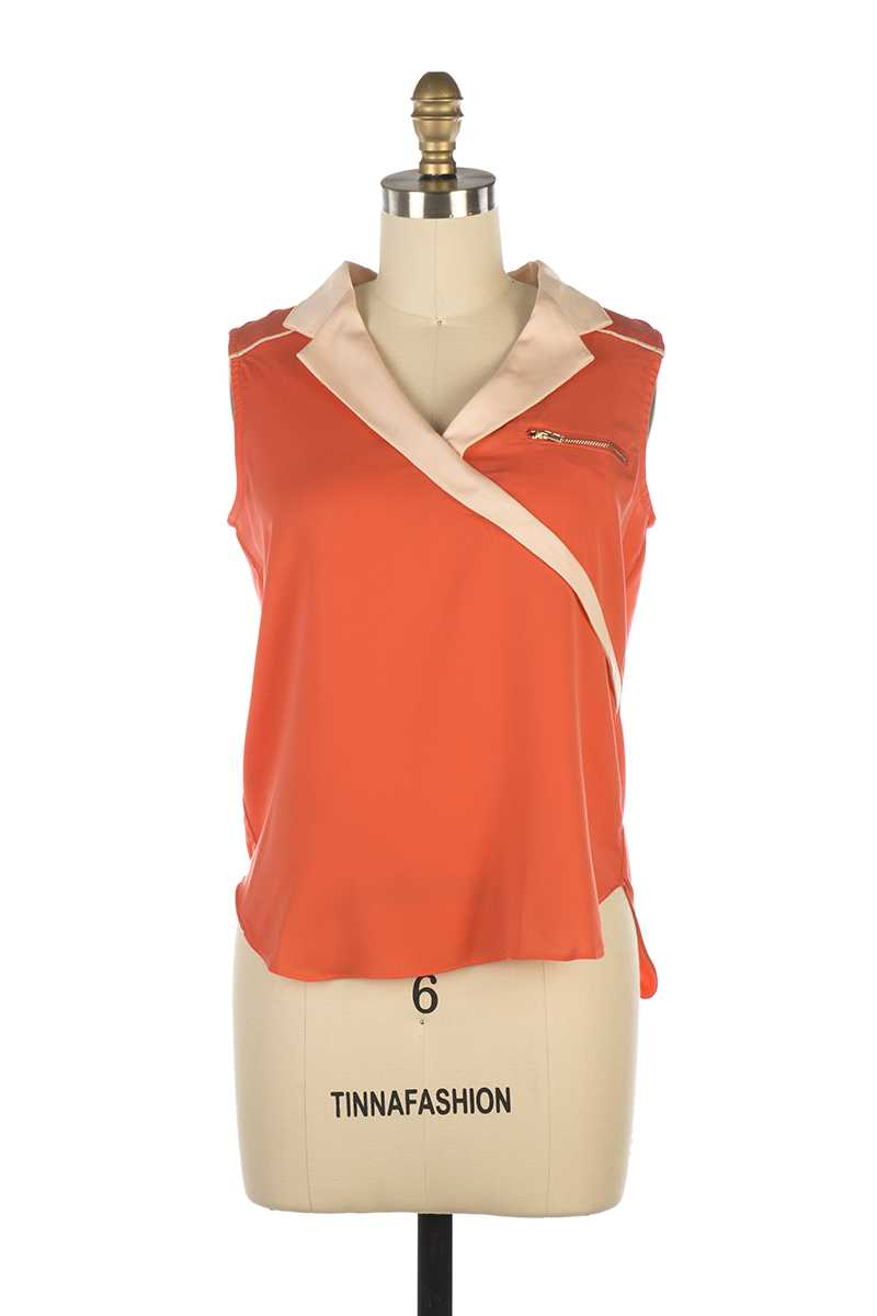 Andy and Lucy Tokyo Cross Front Top Orange - Talis Collection