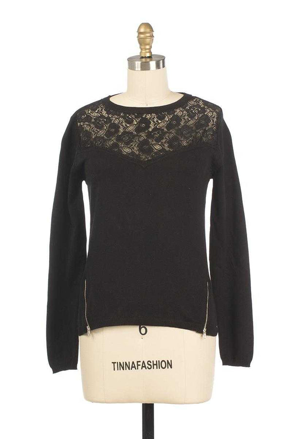 Andy and Lucy Pansee Lace Knit Top - Talis Collection
