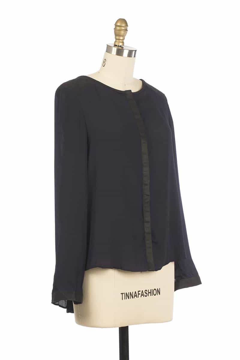 Andy and Lucy Cassandre Colorblock Top Navy - Talis Collection