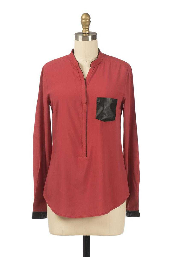 Andy and Lucy Camelia Bordeaux Shirt - Talis Collection
