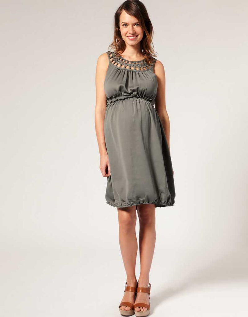 ASOS MATERNITY DETAILED NECKLINE DRESS - Talis Collection