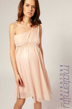ASOS MATERNITY ONE SHOULDER DRESS Pink Sz 16 - Talis Collection