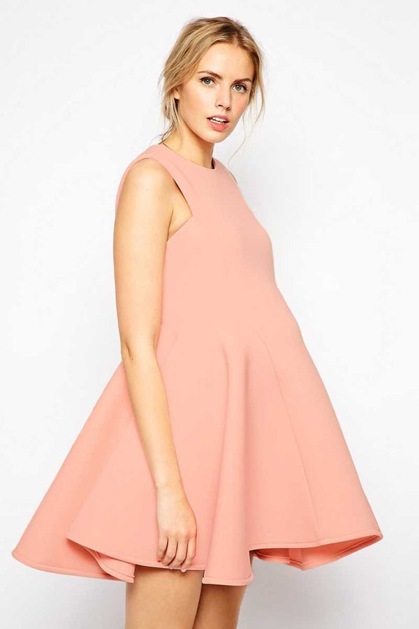 ASOS Maternity Premium Bonded Fit and Flare Dress - Talis Collection