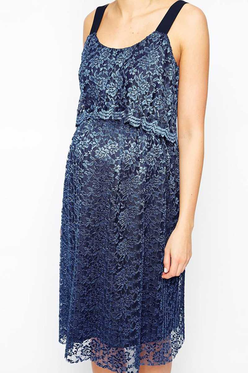 ASOS Maternity Exclusive Lace Pleated Dress with Double Layer - Talis Collection