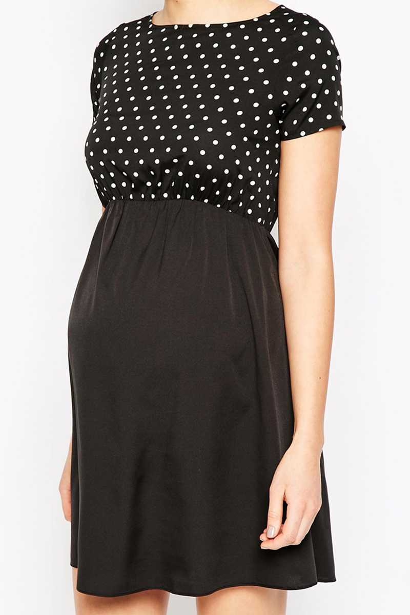 Kate Thomas Spotty Print Maternity Tunic Dress