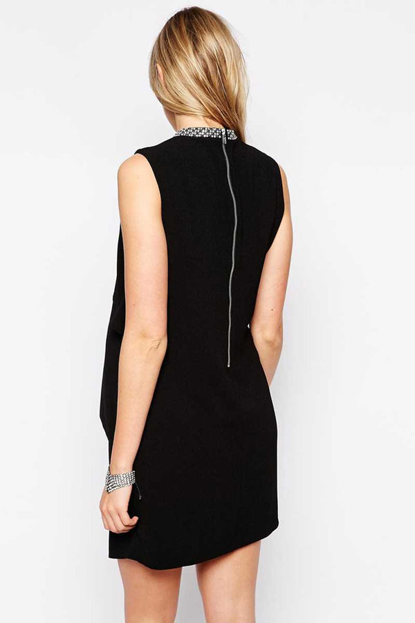 ASOS Maternity Asymmetric Shift Dress with Embellished Neck - Talis Collection