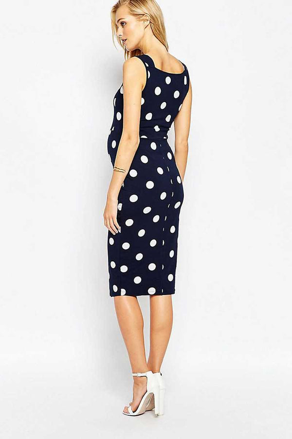 ASOS Maternity Pinny Bodycon Dress in Spot Print - Talis Collection