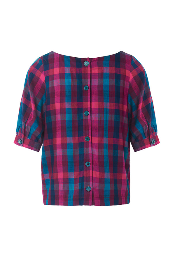 Emily and Fin Ava Top Jewel Plaid