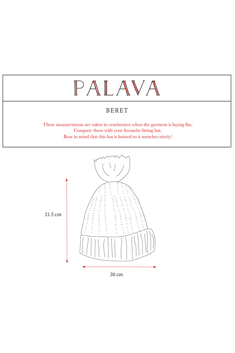 Palava Organic Cotton Beret Feather Stripe