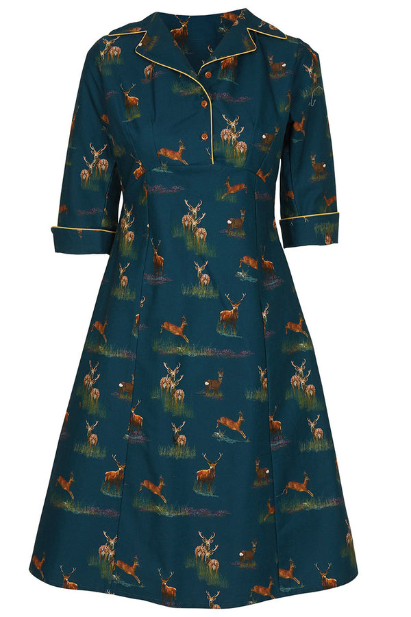 Palava Annie Dress Teal Deer