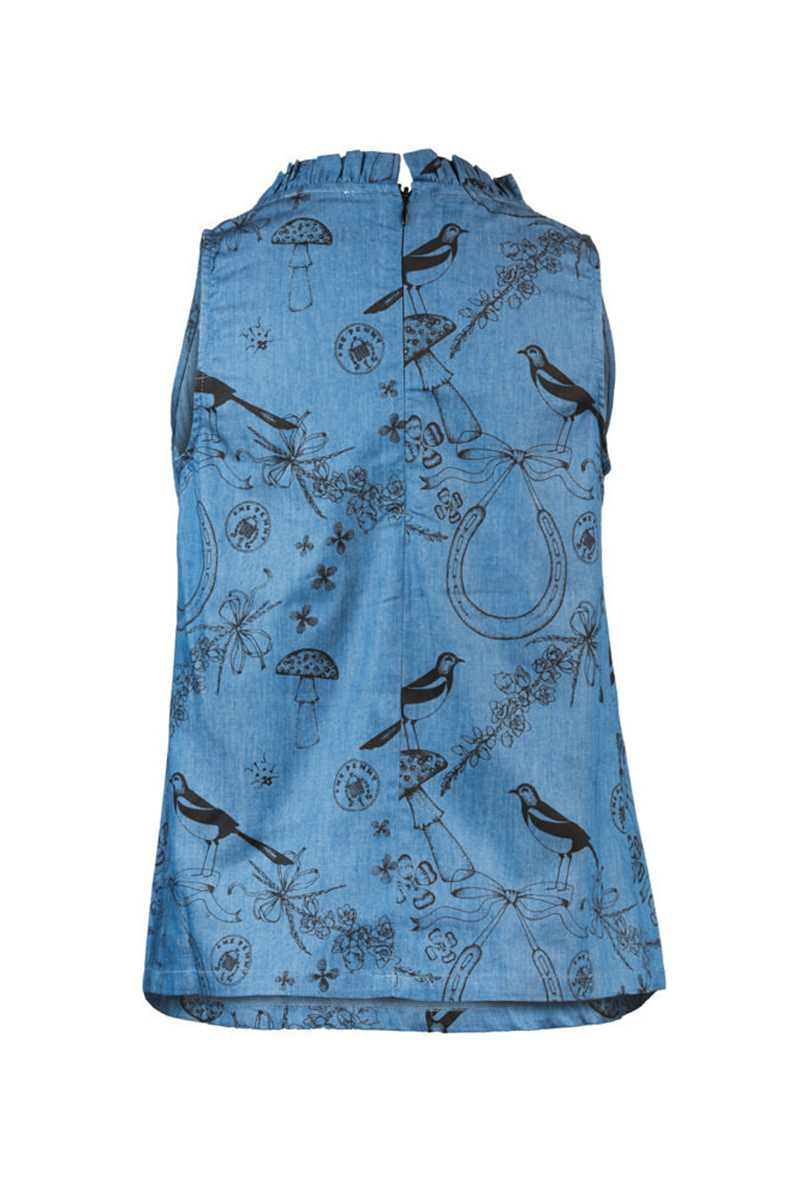 Book of Deer Magpie Vest Top - Talis Collection