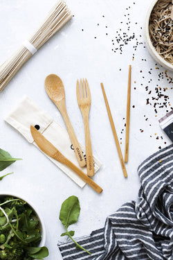 Ever Eco Bamboo Cutlery Set + Chopsticks