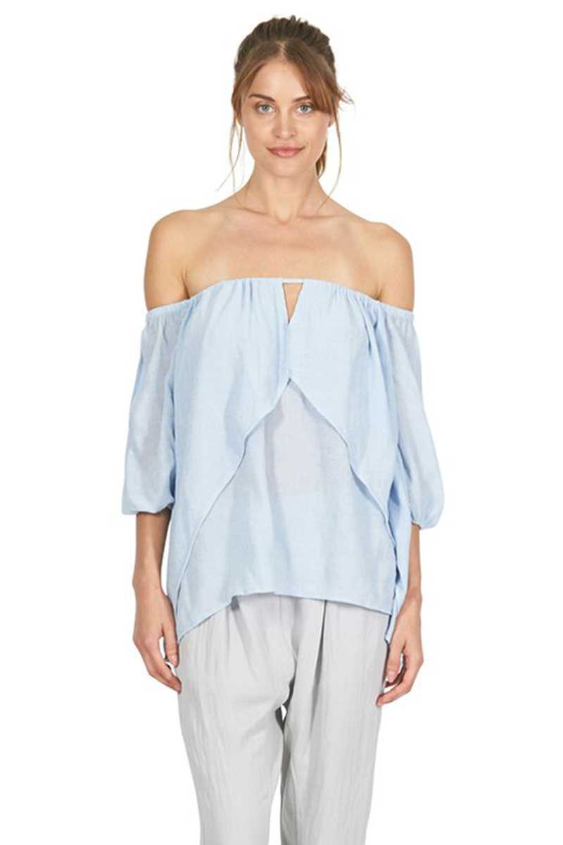Cooper St Light Up My Life Top Chambray - Talis Collection