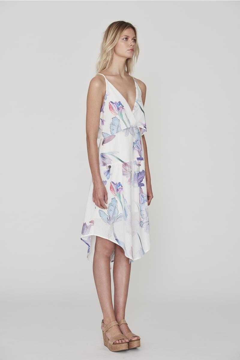 Cooper St Endless Love Train Deep V Floral Dress - Talis Collection