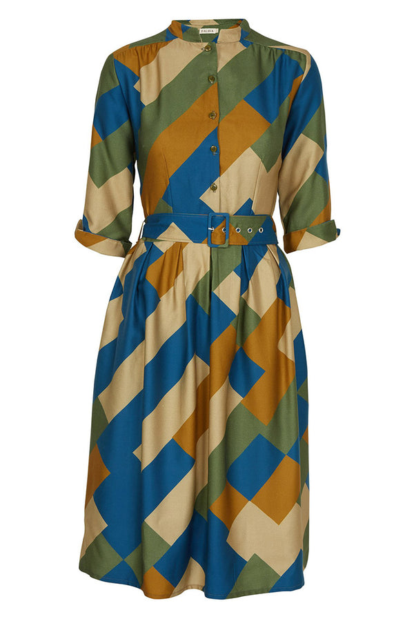 Palava Cynthia Dress Green Bauhaus