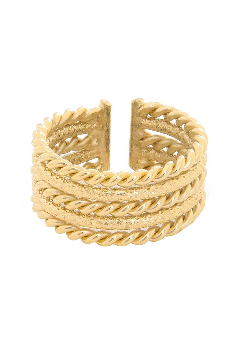 Dear Charlotte Cleopatre Braided Ring - Talis Collection