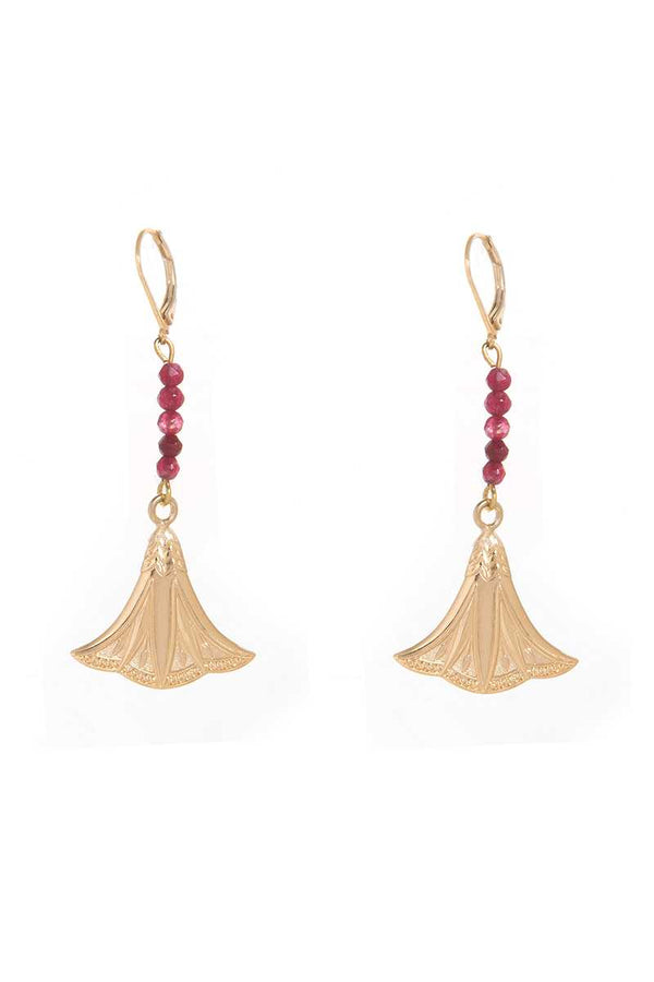 Dear Charlotte Nefertiti Lotus Earrings - Talis Collection