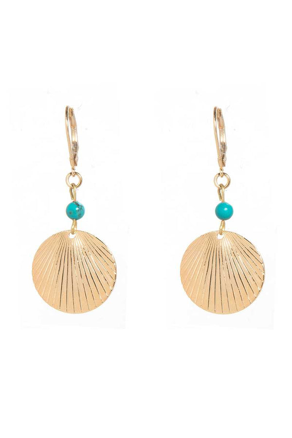 Dear Charlotte Isis Turquoise Earrings - Talis Collection