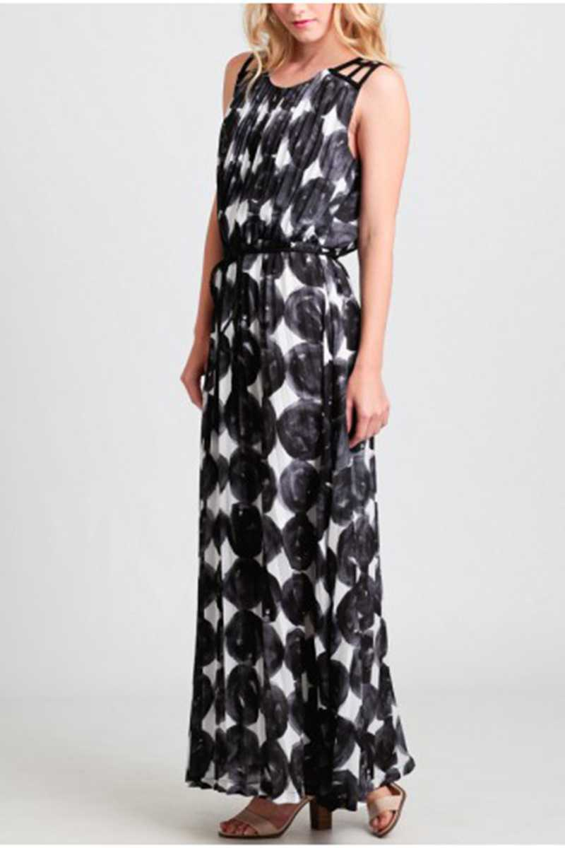 Dear Creatures Polka Diamond Dash Maxi Dress - Talis Collection