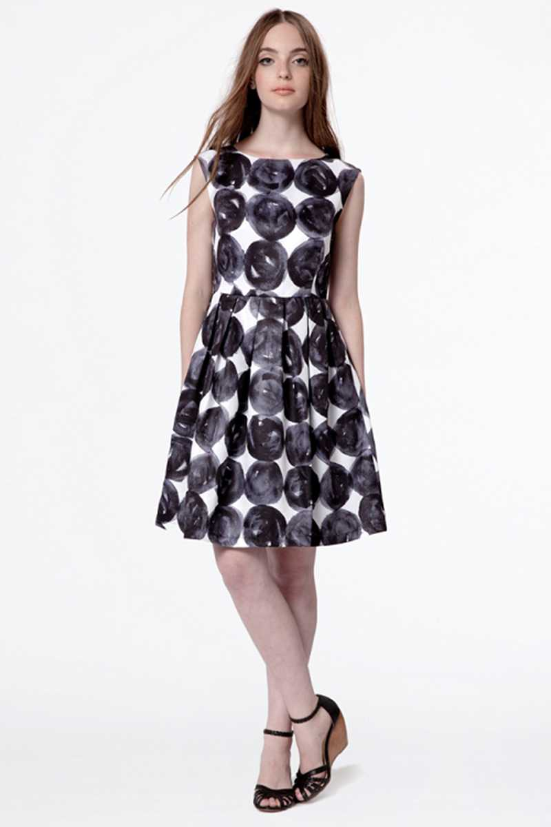 Dear Creatures Polka Dot Fit and Flare Harper Dress - Talis Collection