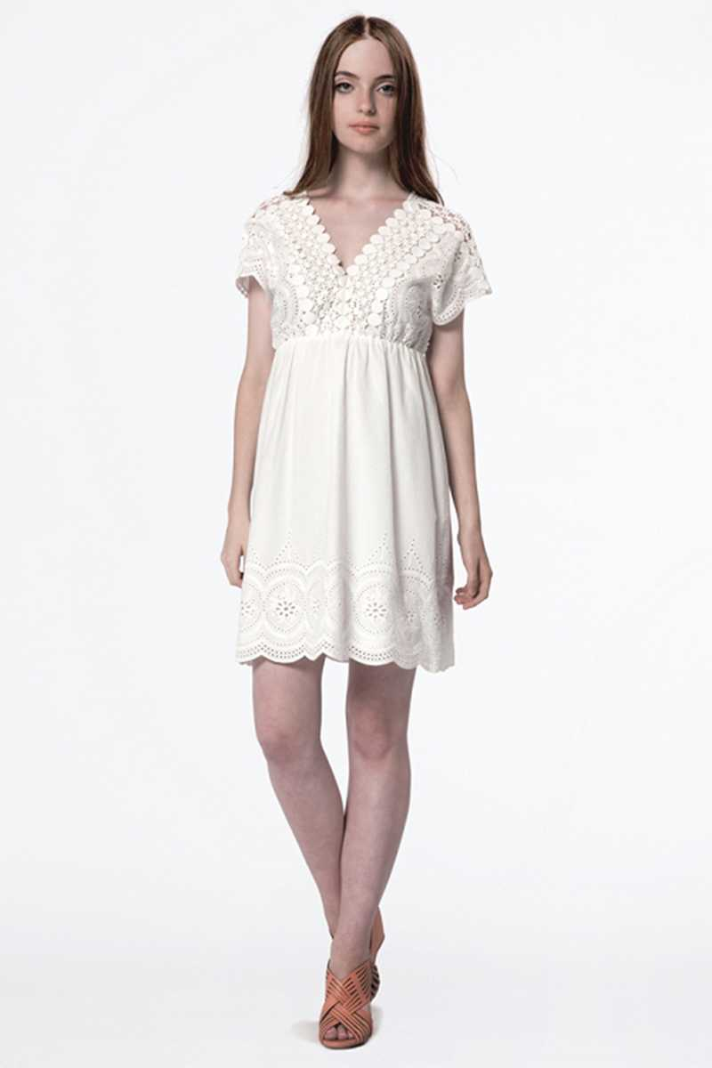Dear Creatures Eyelet Embroidered Lucia Dress White - Talis Collection
