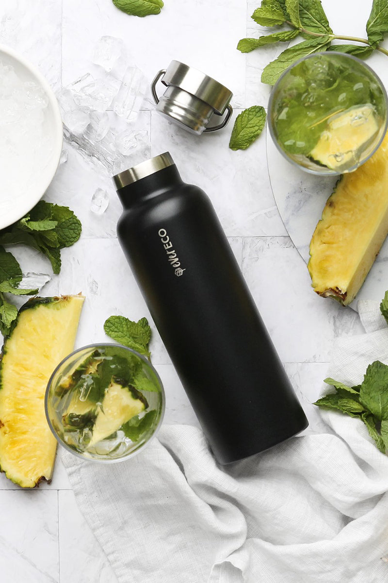 Ever Eco Stainless Steel Insulated Drink Bottle Onyx 750ml