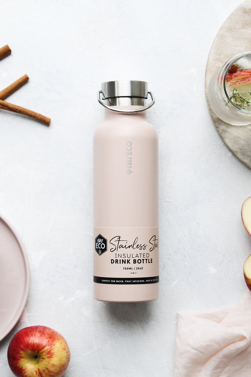 Ever Eco Stainless Steel Insulated Drink Bottle Rose 750ml