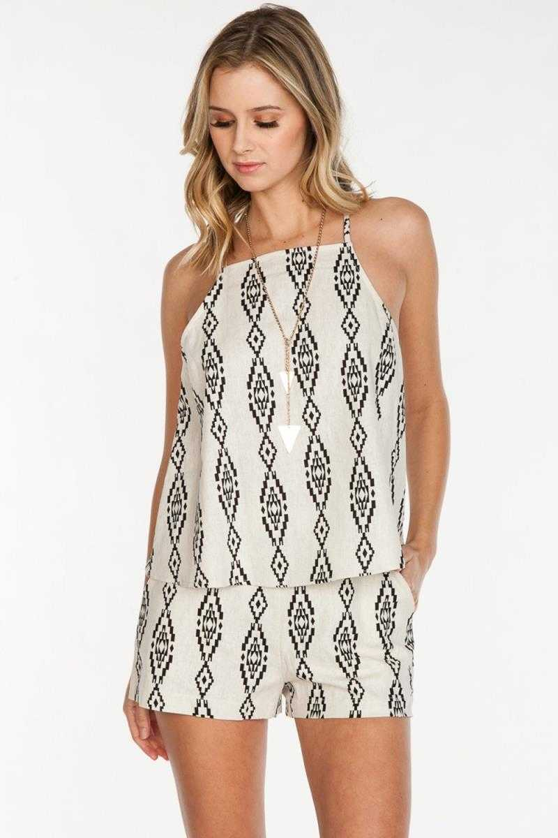 Everly Aztec Woven Cami - Talis Collection