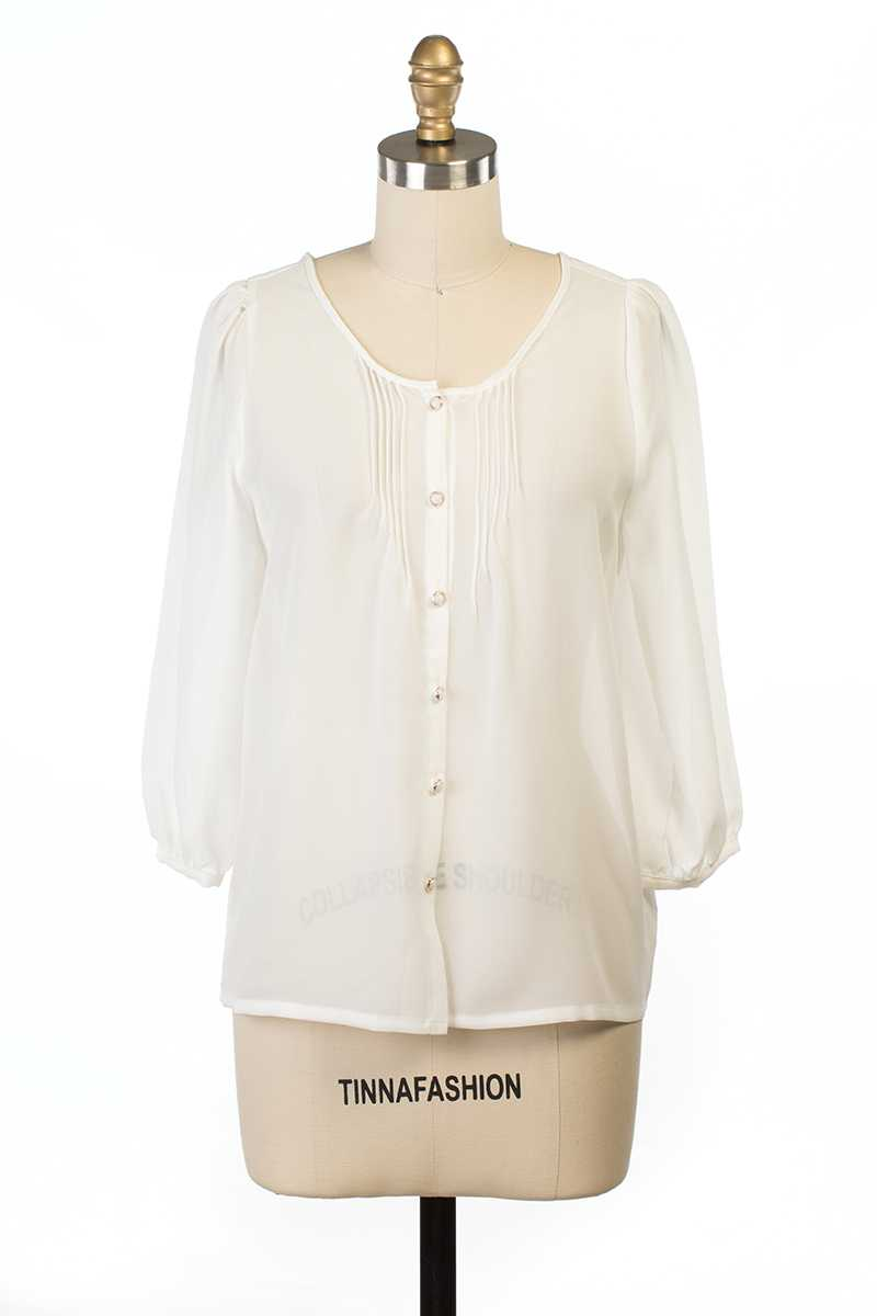 Everly Alana Sheer Blouse - Talis Collection
