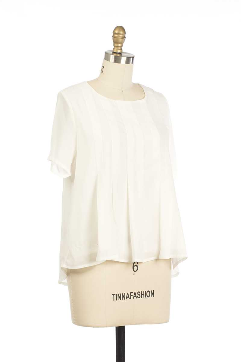 Everly Kenia Blouse Top White - Talis Collection