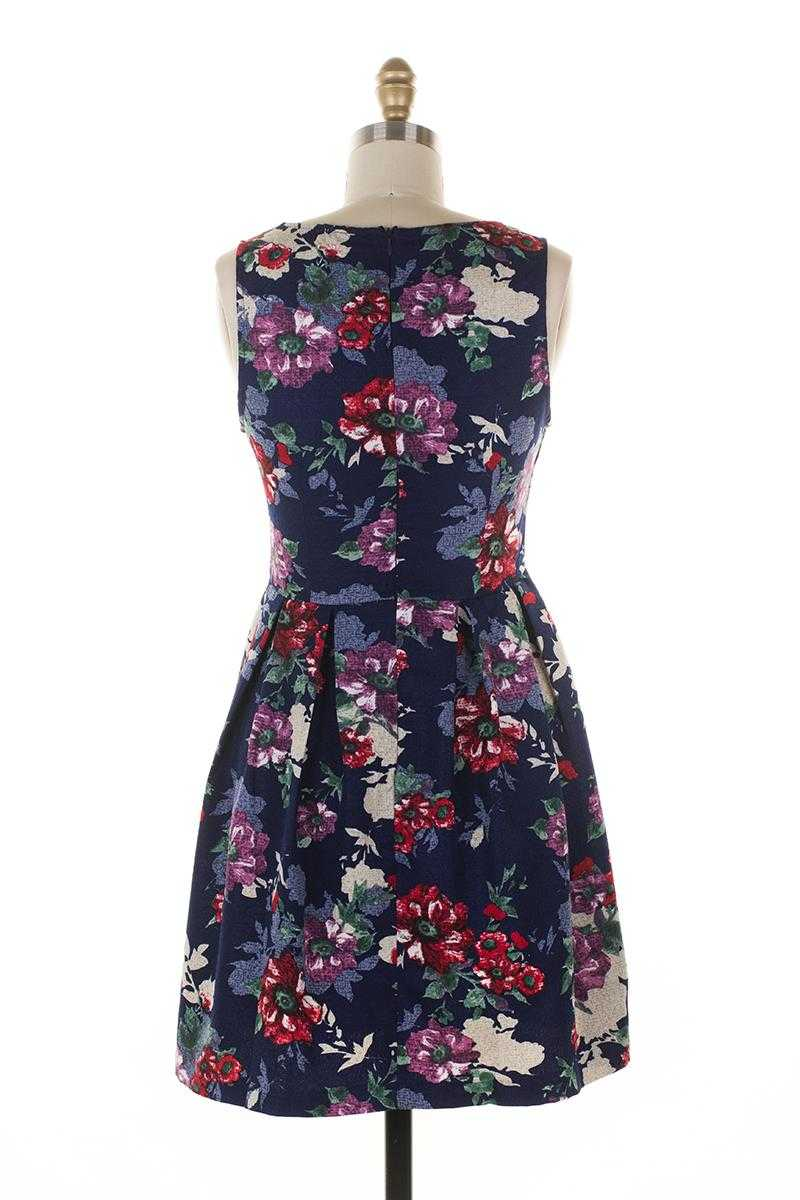 Everly Floral Print Skater Dress - Talis Collection