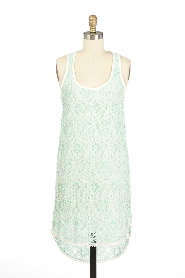 Everly Kacie Lace Midi Dress Green - Talis Collection