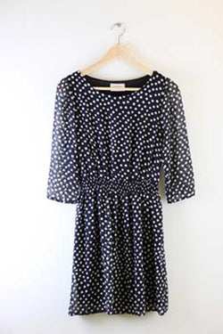 Everly Lindy Polka Dot Dress