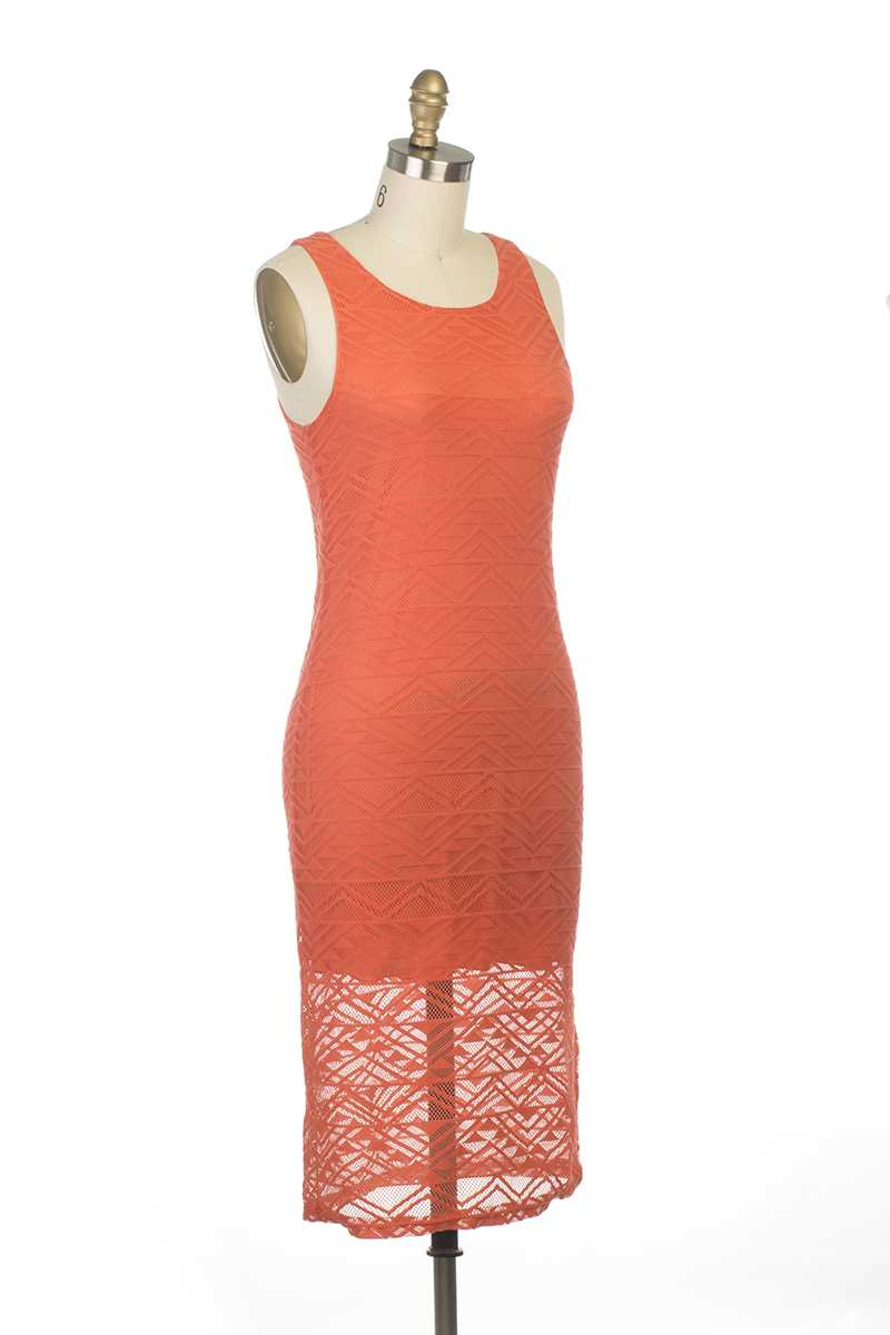 Nicole Crochet Knit Dress